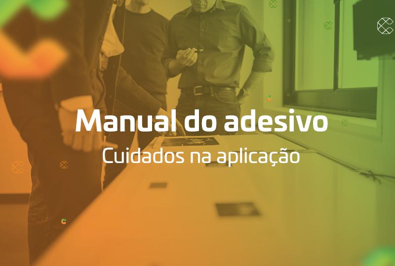manual do adesivo cuidados na aplicação