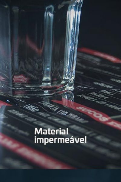 Bar e restaurante - Cardápio em policarbonato impermeável e resistente